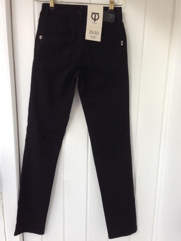 4c625cdd Sorte jeans med høj talje og straight legs model Karolina fra PULZ. Sorte  jeans med høj talje og straight legs model Karolina fra PULZ
